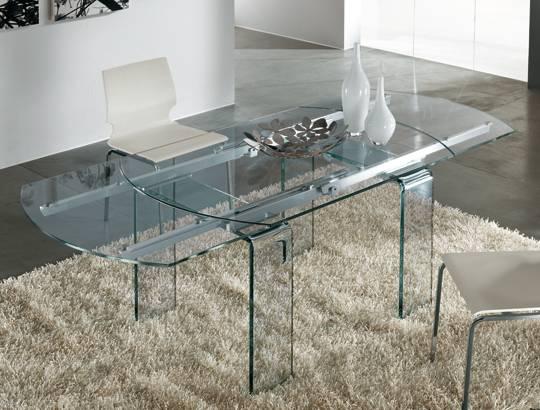 Lord il tavolo allungabile in cristallo di riflessi srl for Tavolo di cristallo