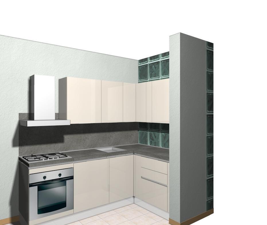 Cucina piccola pareti storte inclinate cucina nella zona living una progettazione accurata - Cucine angolari piccole dimensioni ...