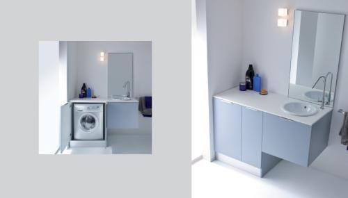 Composizione salvaspazio per bagno con base porta - Dimensioni lavandino bagno ...