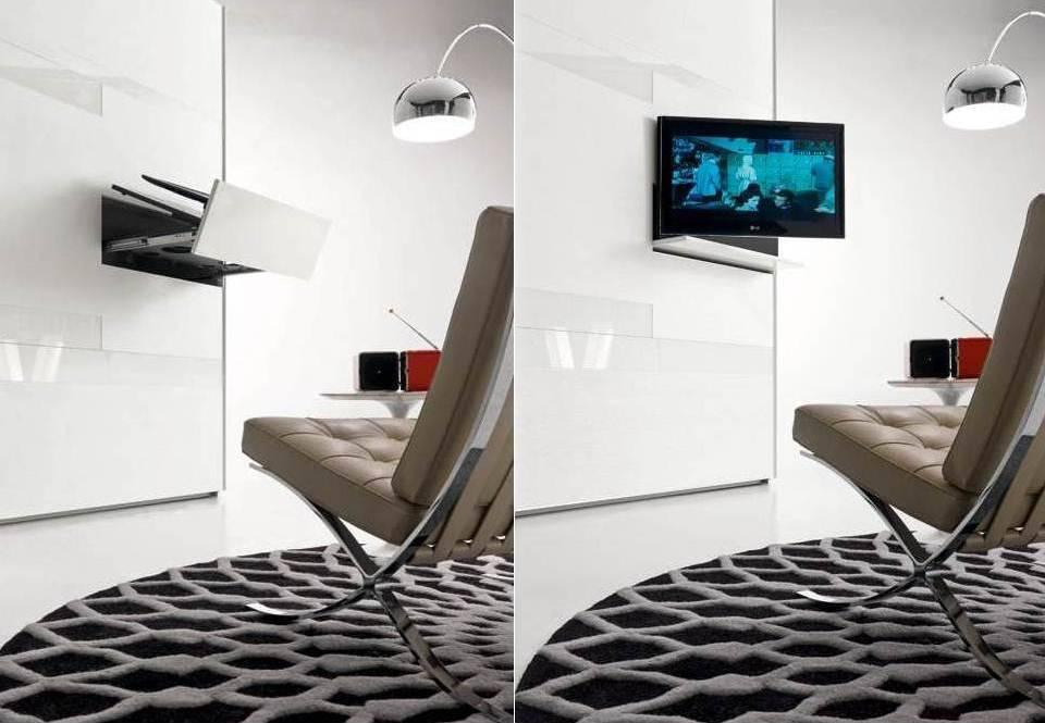Armadio con porta televisore lcd incorporato 100 made in brianza non solo mobili - Mobile porta tv a scomparsa ...
