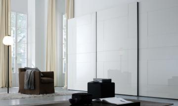 Tavolo d appoggio moderno in vetro in vetro laccato in ferro