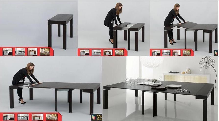 Riflessi p 300 il tavolo consolle allungabile sino a 3 - Tavolo piccolo allungabile ...