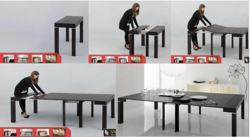 consolle, tavolo consolle, consolle riflessi, p300, p190, q300, q200, r200, r300, riflessiserl, domus arredi, tavolo allungabile