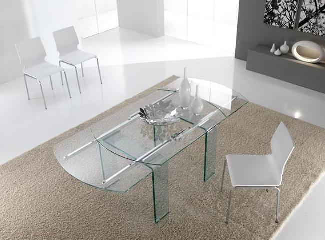Tavolo cristallo non solo mobili for Tavolo riflessi cristallo