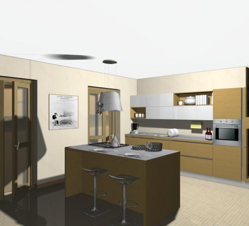 Veneta cucine come comporre una cucina con isola o - Comporre mobili ikea ...