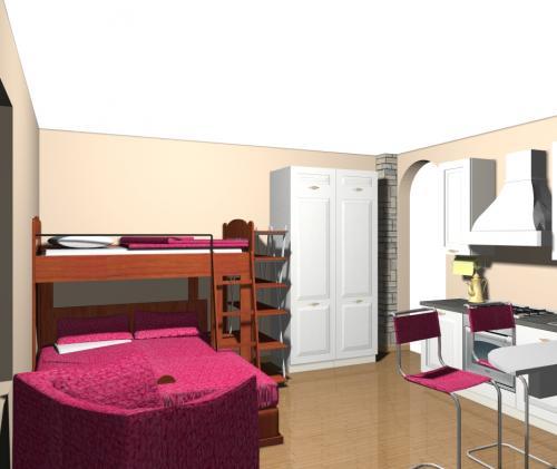 monolocale, casa piccola, idee aredo, mobili salvaspazio, arredare