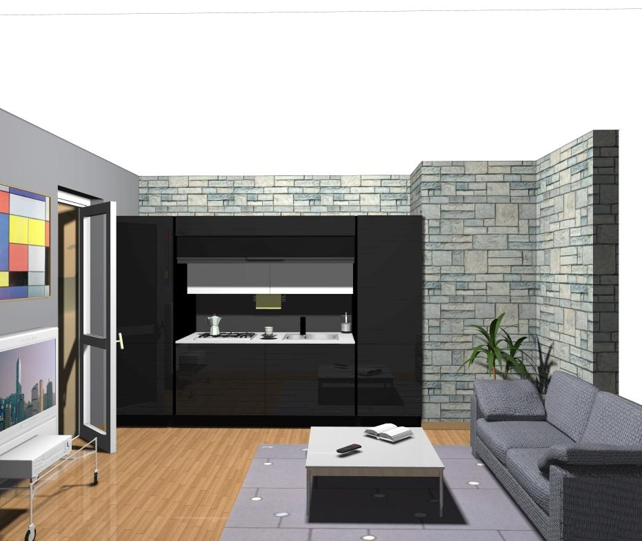 Ecocompatta veneta cucine la soluzione per piccoli - Salone cucina unico ambiente ...