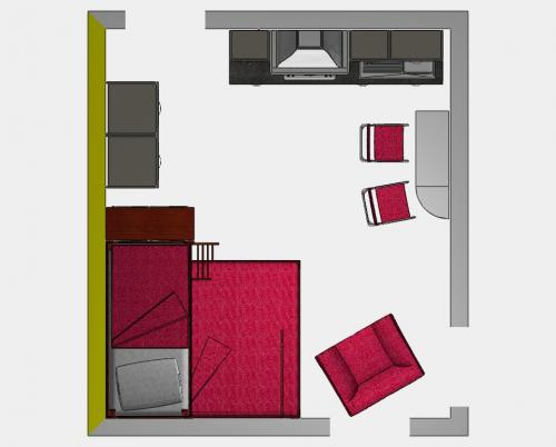 Arredare un monolocale cucina tavoli a scomparsa sedie pieghevoli letti con contenitore - Arredare monolocale ikea ...