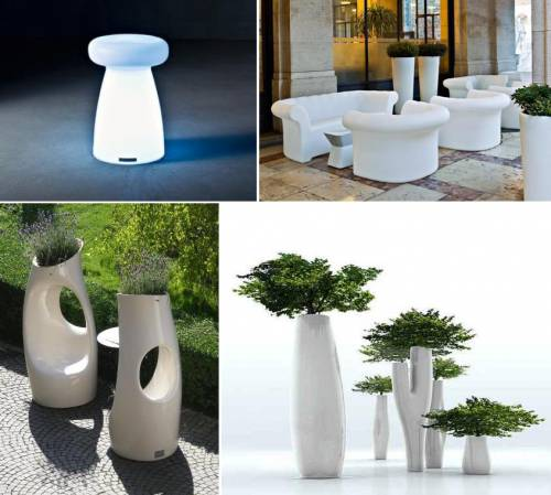 domus arredi lissone, serralunga, vasi luminosi, vasi, arredi giardino,
