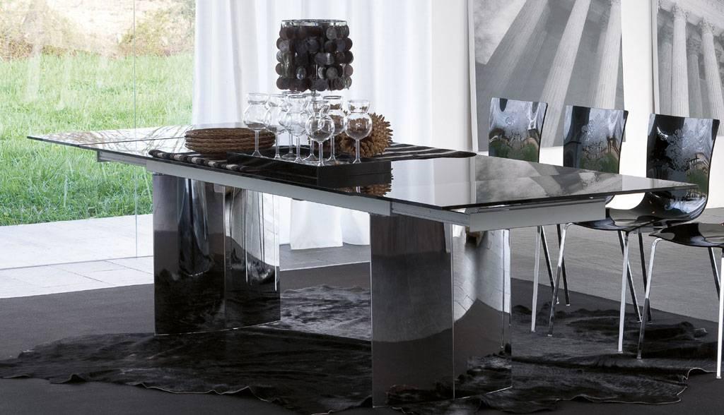 Tavoli Per Soggiorno Vetro.Tonin Casa Propone Manhattan Il Tavolo Allungabile In Cristallo