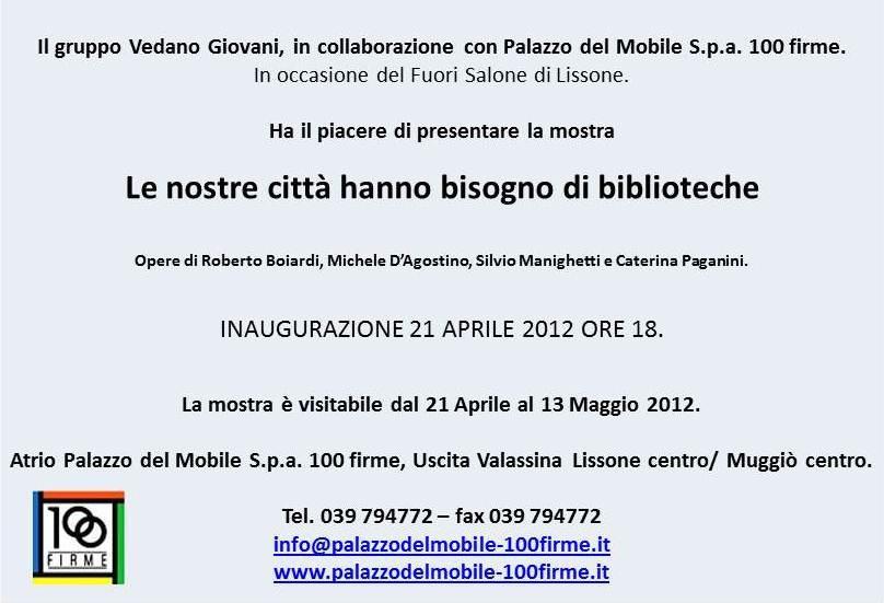 SABATO 21 APRILE 2012.... EVENTO FUORI SALONE A LISSONE .. VI ...