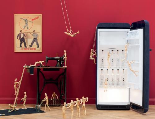 smeg, frigorifero, frigocongelatore, serra, fiori, figorifero jeans, domus arredi, elettrodomestici milano