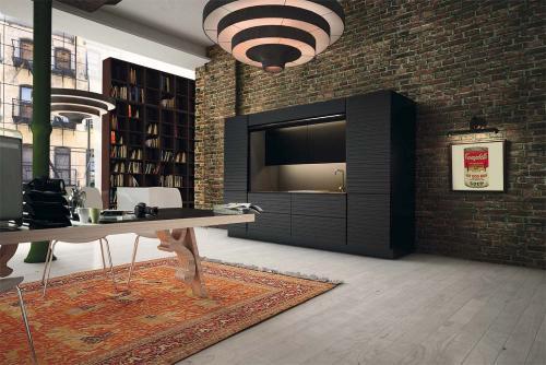 ECOCOMPATTA .. la cucina che se vuoi scompare un progetto di Veneta ...