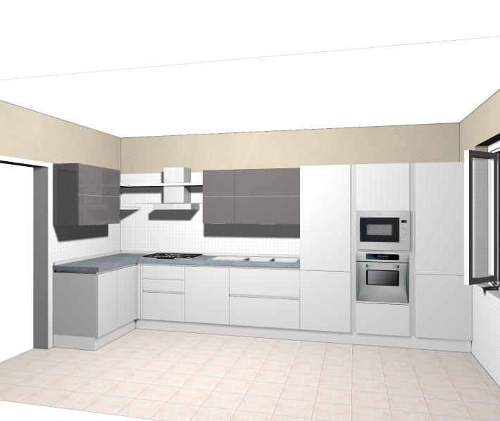 Disegno cucina angolare xf39 pineglen - Progetto cucina angolare ...