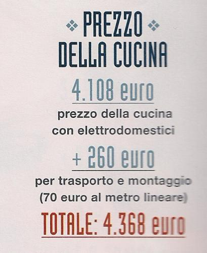 cucina,cucine,prezzi cucina,costo cucina,veneta cucine,ikea,mercatone uno,mondo convenienza