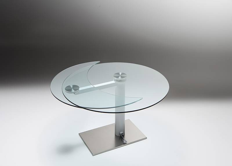Tavolo Tondo Allungabile Cristallo.Tavolo Forever Originalita Made Riflessi Il Tavolo Tondo Che