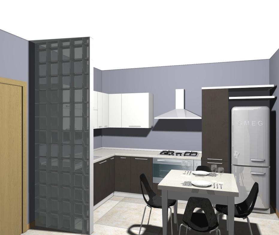 Fab 28 il frigorifero in jeans denim di smeg non solo mobili - Cucine con frigo esterno ...