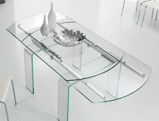 Lord il tavolo allungabile in cristallo di riflessi srl for Tavoli in cristallo e acciaio