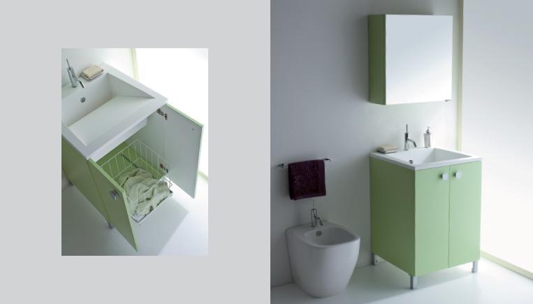 Lavandino Con Mobiletto Cucina : Idea salvaspazio per la lavanderia: armadietto sotto lavandino con