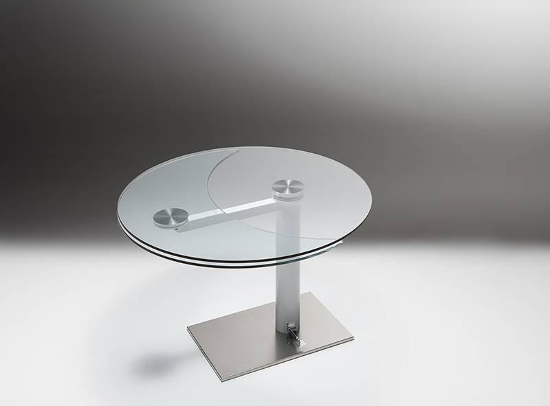 Tavolo Tondo Cristallo Allungabile.Tavolo Forever Originalita Made Riflessi Il Tavolo Tondo