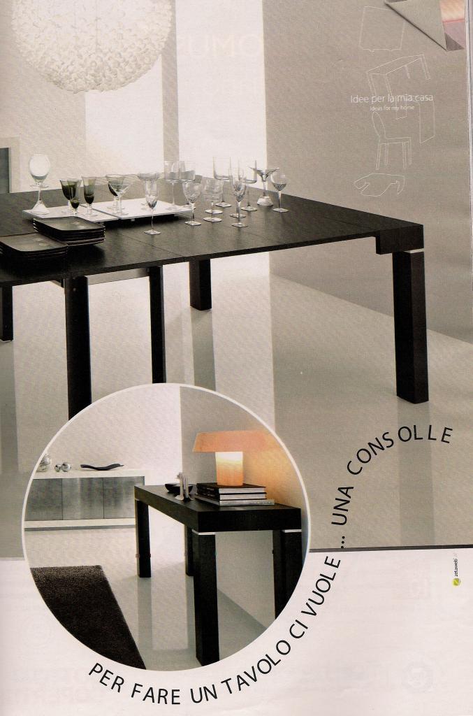 R200 archives non solo mobili cucina soggiorno e camera for Tavolo consolle riflessi