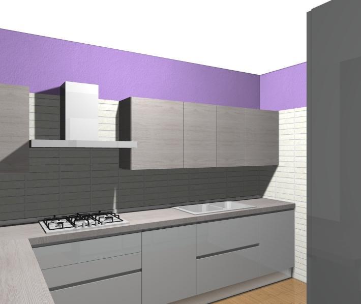 Parete lilla archives non solo mobili cucina soggiorno for Disegni parete cucina