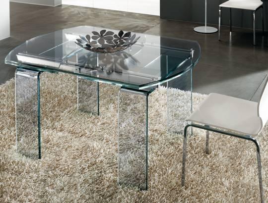 lord il tavolo allungabile in cristallo di riflessi srl