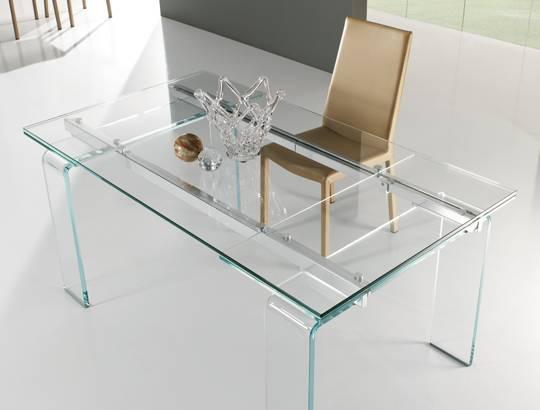 Agosto 2013 non solo mobili - Tavolo in cristallo allungabile ...