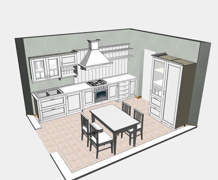 Cucina non solo mobili part 2 for Disegnare cucina 3d online