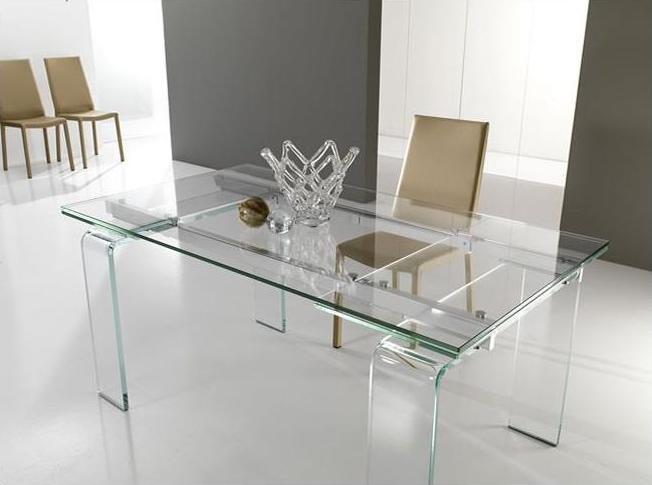 Tavolo lord il cristallo che si allunga l 39 eleganza for Tavoli in cristallo