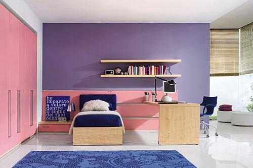 Camera Da Letto Rosa E Viola : La camera x ragazzi si tinge dei colori moda.. viola lillà e rosa