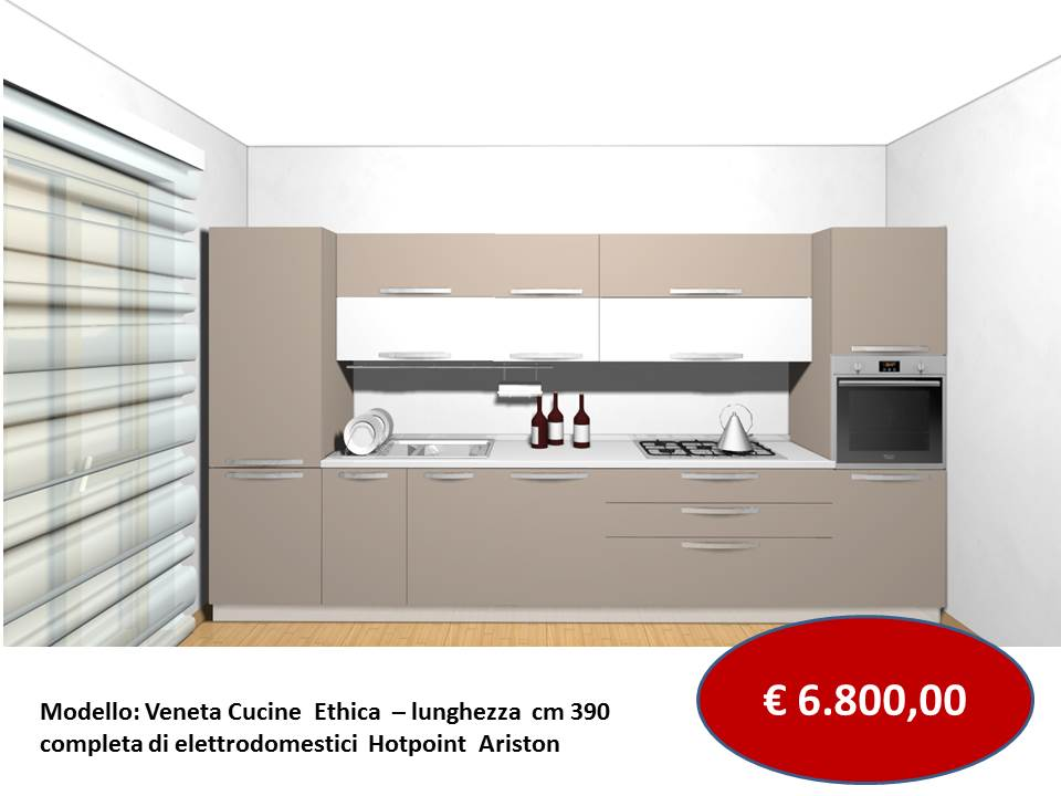 i prezzi di Veneta cucine modello Ethica