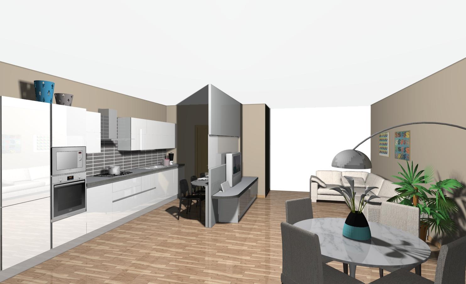 veneta cucine | non solo mobili - Cucina E Soggiorno Unico Ambiente Piccolo