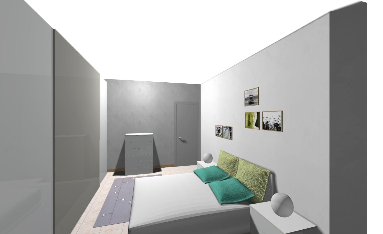 disegno 3d camera da letto